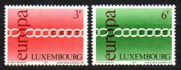 Poštovní známky Lucembursko 1971 Evropa CEPT Mi# 824-25