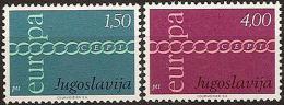 Poštovní známky Jugoslávie 1971 Evropa CEPT Mi# 1416-17