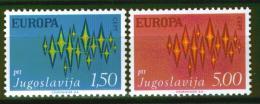 Poštovní známky Jugoslávie 1972 Evropa CEPT Mi# 1457-58