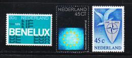 Poštovní známky Nizozemí 1974 Výroèí Mi# 1035-37