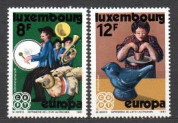 Poštovní známky Lucembursko 1981 Evropa CEPT Mi# 1031-32