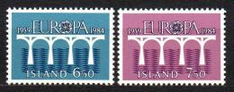 Poštovní známky Island 1984 Evropa CEPT Mi# 614-15
