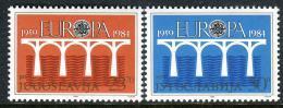 Poštovní známky Jugoslávie 1984 Evropa CEPT Mi# 2046-47