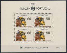 Poštovní známky Portugalsko 1988 Evropa CEPT Mi# Block 57 Kat 14€