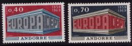 Poštovní známky Andorra Fr. 1969 Evropa CEPT Mi# 214-15 Kat 20€