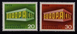 Poštovní známky Nìmecko 1969 Evropa CEPT Mi# 583-84