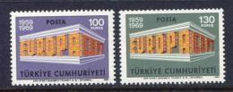 Poštovní známky Turecko 1969 Evropa CEPT Mi# 2124-25