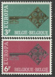 Poštovní známky Belgie 1968 Evropa CEPT Mi# 1511-12