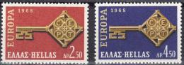Poštovní známky Øecko 1968 Evropa CEPT Mi# 974-75