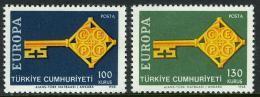 Poštovní známky Turecko 1968 Evropa CEPT Mi# 2095-96