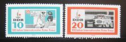 Poštovní známky DDR 1963 Èervený køíž Mi# 956-57