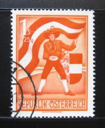 Poštovní známka Rakousko 1950 Korutanec s vlajkou Mi# 953 Kat 40€