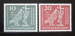 Poštovní známky Nìmecko 1960 Eucharistický kongres Mi# 330-31