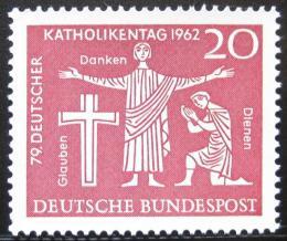 Poštovní známky Nìmecko 1962 Setkání katolíkù Mi# 381