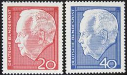 Poštovní známky Nìmecko 1964 Prezident Heinrich Lübke Mi# 429-30
