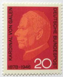 Poštovní známka Nìmecko 1966 Kardinál von Galen Mi# 505