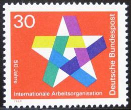 Poštovní známka Nìmecko 1969 ILO, 50. výroèí Mi# 582