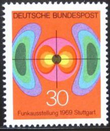 Poštovní známka Nìmecko 1969 Elektromagnetické pole Mi# 599