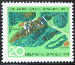 Poštovní známka Nìmecko 1969 Moøské plynové potrubí Mi# 602