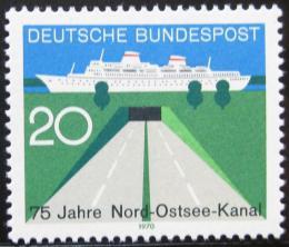 Poštovní známka Nìmecko 1970 Baltský kanál Mi# 628