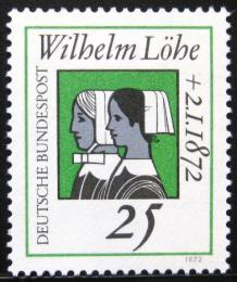 Poštovní známka Nìmecko 1972 Wilhelm Löhe Mi# 710