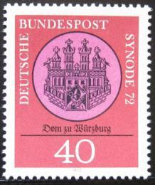 Poštovní známka Nìmecko 1972 Katedrála Würzburg Mi# 752