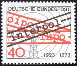 Poštovní známka Nìmecko 1973 INTERPOL, 50. výroèí Mi# 759