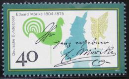 Poštovní známka Nìmecko 1975 Eduard Mörike, básník Mi# 842