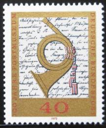 Poštovní známka Nìmecko 1972 Poštovní muzeum Mi# 739