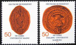 Poštovní známky Nìmecko 1977 Univerzitní peèetì Mi# 938-39