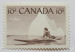 Poštovní známka Kanada 1955 Eskimák na kajaku Mi# 302