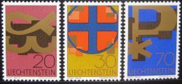 Poštovní známky Lichtenštejnsko 1967 Køes�anské.symboly Mi# 482-84