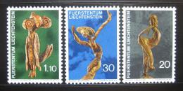 Poštovní známky Lichtenštejnsko 1972 Sochy Mi# 567-69