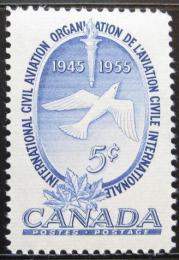 Poštovní známka Kanada 1955 ICAO, 10. výroèí Mi# 303