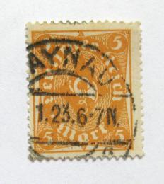 Poštovní známka Nìmecko 1922 Poštovní trumpeta Mi# 227