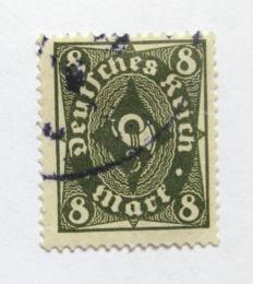 Poštovní známka Nìmecko 1922 Poštovní trumpeta Mi# 229