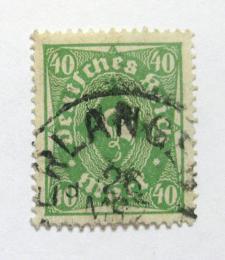 Poštovní známka Nìmecko 1923 Poštovní trumpeta Mi# 232