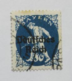Poštovní známka Nìmecko 1920 Rozsévaè, pøetisk Mi# 128