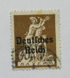 Poštovní známka Nìmecko 1920 Sklizeò, pøetisk Mi# 124