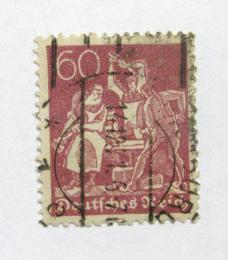 Poštovní známka Nìmecko 1921 Práce s železem Mi# 165