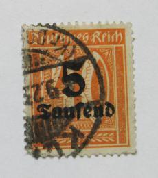 Poštovní známka Nìmecko 1923 Nominál, pøetisk Mi# 277