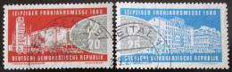 Poštovní známky DDR 1960 Lipský veletrh Mi# 750-51