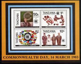 Poštovní známky Tanzánie 1983 Den commonwealthu Mi# Block 32
