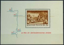 Poštovní známka Maïarsko 1965 Pomoc pøi povodních Mi# Block 49