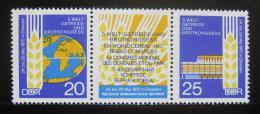 Poštovní známky DDR 1970 Potravináøský kongres Mi# 1575-76