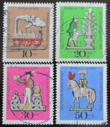 Poštovní známky Nìmecko 1969 Cínové hraèky Mi# 604-07