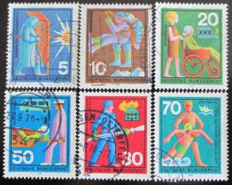 Poštovní známky Nìmecko 1970 Dobrovolníci Mi# 629-34