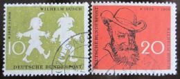 Poštovní známky Nìmecko 1958 Wilhelm Busch Mi# 281-82