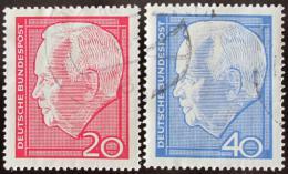Poštovní známky Nìmecko 1964 Prezident Lubke Mi# 429-30