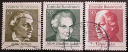 Poštovní známky Nìmecko 1969 Slavné ženy Mi# 596-98